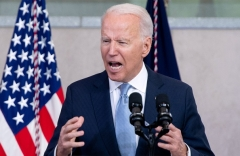 President Joe Biden says voting safeguards are akin to Jim Crow in a July 13 speech in Philadelphia. (Photo by SAUL LOEB/AFP via Getty Images)