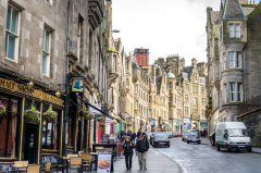 A street in Edinburgh, Scotland.  (Getty Images)