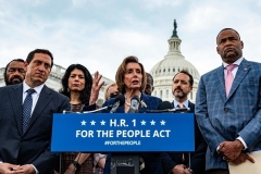 """Despite intensive efforts by House Speaker Nancy Pelosi and her fellow Democrats to pass their """"For the People Act,"""" the bill stalled in the U.S. Senate. (Photo by JIM WATSON/AFP via Getty Images)"""