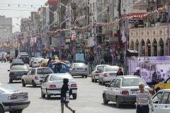 Une scène de rue à Ahvaz, capitale de la province iranienne du sud-ouest du Khouzistan. (Photo par Atta Kenare/AFP via Getty Images)