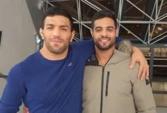 Iran-born judo champion Saeid Mollaei, left, and Israeli champion Sagi Muki.  (Photo: IJF)