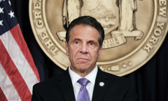 New York Gov. Andrew Cuomo speaks to the media at a news conference in Manhattan, NY. (Photo credit:  SPENCER PLATT/POOL/AFP via Getty Images)