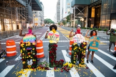 Featured are Black Lives Matter in a road. (Photo credit: Noam Galai/Getty Images)