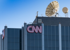 Featured is the outside of CNN headquarters. (Photo credit: AaronP/Bauer/Griffin/GC Images)
