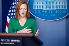 White House Press Secretary Jen Psaki speaks during the daily press briefing on August 6, 2021, in the Brady Briefing Room of the White House in Washington, DC. (Photo by SAUL LOEB/AFP via Getty Images)