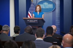 White House Press Secretary Jen Psaki speaks during the daily briefing in the Brady Briefing Room of the White House in Washington, DC on August 11, 2021. (Photo by MANDEL NGAN/AFP via Getty Images)