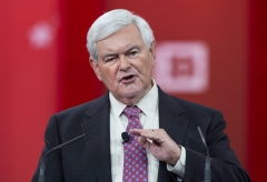 Former House Speaker Newt Gingrich speaks at the annual Conservative Political Action Conference (CPAC). (Photo credit: NICHOLAS KAMM/AFP via Getty Images)