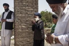 Members of Afghanistan's embattled, shriking Sikh community. (Jonathan Saruk/Getty Images)