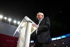 Sen. Bernie Sanders (I-VT) gives a speech. (Photo credit: MARK FELIX/AFP via Getty Images)