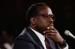 Pictured is Supreme Court Justice Clarence Thomas. (Photo credit: Wally McNamee/CORBIS/Corbis via Getty Images)