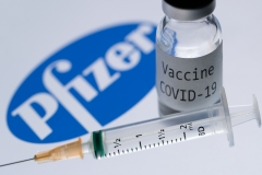 Pfizer is a major distributor of the COVID-19 vaccine. (Photo credit: JOEL SAGET/AFP via Getty Images)