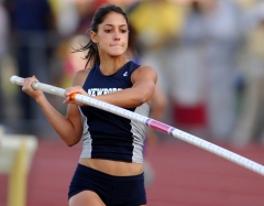 Allison Stokke of Newport Harbor was among eight athletes to clear 12-3 (3.73m) in the girls' pole vault qualifying in the CIF State Track & Field Championships. (Photo credit: Kirby Lee/WireImage)