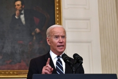 President Joe Biden delivers remarks on plans to stop the spread of the Delta variant and boost Covid-19 vaccinations at the State Dinning Room of the White House, in Washington, DC on September 9, 2021. (Photo by BRENDAN SMIALOWSKI/AFP via Getty Images)