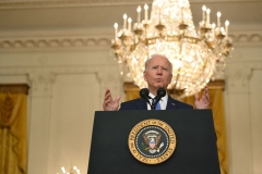 President Joe Biden speaks about the economy and the middle class, in the East Room of the White House in Washington, DC, on September 16, 2021. (Photo by BRENDAN SMIALOWSKI/AFP via Getty Images)