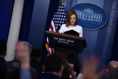 White House Press Secretary Jen Psaki holds a press briefing in the Brady Briefing Room of the White House in Washington, DC, on September 22, 2021. (Photo by BRENDAN SMIALOWSKI/AFP via Getty Images)
