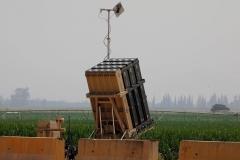 Une batterie de dôme de fer dans le nord d'Israël. (Photo de Jalaa Marey/AFP via Getty Images)