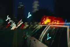 Featured are the lights on a police car. (Photo credit: David Butow/Corbis via Getty Images)