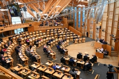 The Scottish Parliament convenes to debate Brexit. (Photo credit: Ken Jack/Getty Images)