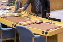 A U.N. official adjusts a microphone ahead of a Security Council meeting on Afghanistan this month. (Photo: UN Photo/Manuel Elias)