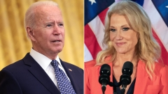 President Joe Biden and former Senior Counselor to President Donald Trump, Kellyanne Conway. (Getty Images)