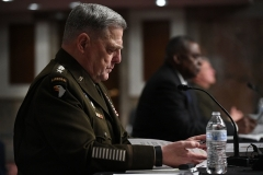 Chairman of the Joint Chiefs of Staff Gen. Mark Milley testifies before the Senate Armed Services Committee on September 28, 2021. (Photo by MANDEL NGAN/AFP via Getty Images)