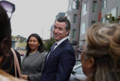 San Francisco Mayor London Breed and California Gov. Gavin Newsom (Photo by Justin Sullivan/Getty Images)