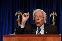 """Sen. Bernie Sanders (I-Vt.) refuses to budge on the $3.5 trillion cost of his agenda for """"working families."""" (Photo by NICHOLAS KAMM/AFP via Getty"""