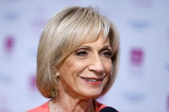 Andrea Mitchell attends 2017 Matrix Awards at the Sheraton New York Times Square on April 24, 2017 in New York City. (Photo credit: John Lamparski/WireImage)