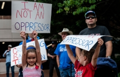Pictured are protesters against critical race theory. (Photo credit: ANDREW CABALLERO-REYNOLDS/AFP via Getty Images)