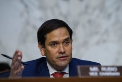 Republican Senator from Florida Marco Rubio speaks during a hearing of the Senate Intelligence Select Committee on the threats to national security from China on Capitol Hill in Washington, DC, on August 4, 2021. (Photo by NICHOLAS KAMM/AFP via Getty Images)
