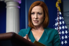 White House Press Secretary Jen Psaki speaks during the daily press briefing at the White House in Washington, DC, on October 6, 2021. (Photo by NICHOLAS KAMM/AFP via Getty Images)