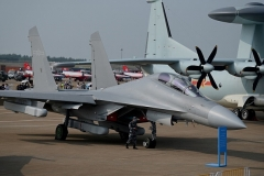 A People's Liberation Army Air Force Shenyang J-16 strike fighter jet. (Photo by Noel Celis / AFP via Getty Images)
