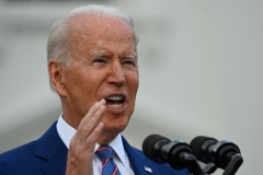 Joe Biden gives a speech on Independence Day. (Photo credit: ANDREW CABALLERO-REYNOLDS/AFP via Getty Images)