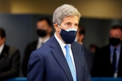 U.S. Special Envoy for Climate John Kerry at the U.N. in New York last month. (Photo by John Minchillo /Pool/AFP via Getty Images)