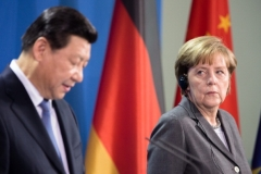 German Chancellor Angela Merkel and Chinese President Xi Jinping. (Photo by Christian Marquardt/Getty Images)