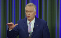 Virginia Democratic gubernatorial nominee Terry McAuliffe participates in a debate. (Photo credit: YouTube/WTVR CBS 6)
