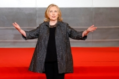 Former Secretary of State Hillary Clinton attends a gender equality forum in Paris in June 2021. (Photo by LUDOVIC MARIN/AFP via Getty Images)