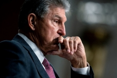 Senator Joe Manchin (D-W.Va.) says he won't support a reconcilation bill that costs more than .5 trillion, and he warned against the U.S. becoming an entitlement society, even as he indicated support for some new entitlements. (Photo by STEFANI REYNOLDS/POOL/AFP via Getty Images)