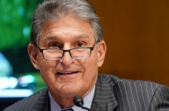 Senator Joe Manchin (D-W.Va.) says he won't vote for a $3.5 trillion bill. He has mentioned .5 trillion as an alternative. (Photo by LEIGH VOGEL/POOL/AFP via Getty Images)