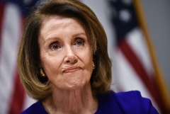 """Nancy Pelosi, now Speaker of the House, sounded optimistic on Sunday about reaching an """"agreement"""" on a framework for the Democrats' social infrastructure plan. (Photo by MANDEL NGAN/AFP via Getty Images)"""