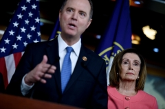 House Intelligence Committee Chairman Adam Schiff (D-Calif.) was the lead impeachment manager in President Trump's first trial. (Photo by OLIVIER DOULIERY/AFP via Getty Images)