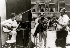 Bob Dylan and Charlie Daniels in the studio. (Courtesy of the Charlie Daniels Band.)