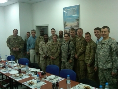 Rep. Scott Rigell, third from left, visiting with some U.S. military personnel in Afghanistan. (Congressional photo)