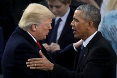 President Donald Trump and former President Barack Obama at Trump's inauguration ceremony, Jan. 20, 2017. (Getty Images/Chip Somodevilla)