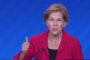 Sen. Elizabeth Warren (D-Mass.) makes a point at one of the Democrat debates. (Photo: Screen capture)