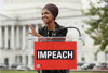 Rep. Ilhan Omar at 'Impeachment Now!' rally on the grounds of the U.S. Capitol, Sept. 26, 2019. (Paul Morigi/Getty Images for MoveOn Political Action)
