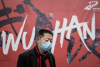 A man on a street in Wuhan, China, January 22, 2020. (Getty Images)