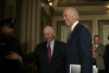 Sen. Ben Cardin (D.-Md.) and then-Vice President Joe Biden in the U.S. Capitol, July 16, 2015. (Photo by Alex Wong/Getty Images)