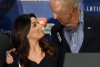 Actress Eva Longoria and former Vice President Joe Biden. (Photo by Ethan Miller/Getty Images)