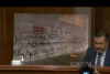 """Sen. Ted Cruz displays some of the vandalism by  """"peaceful"""" protesters in Portland, Oregon at a Senate hearing on Aug. 4, 2020. (Photo: Screen capture)"""